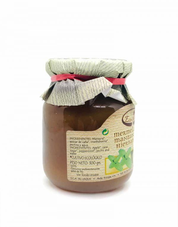 mermelada de manzana con hierbabuena ecológica