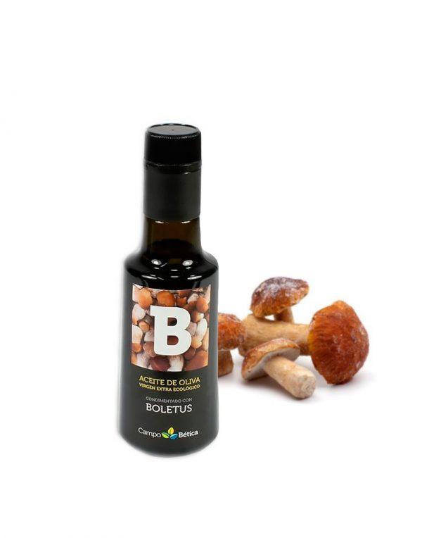 aceite de oliva virgen extra con boletus