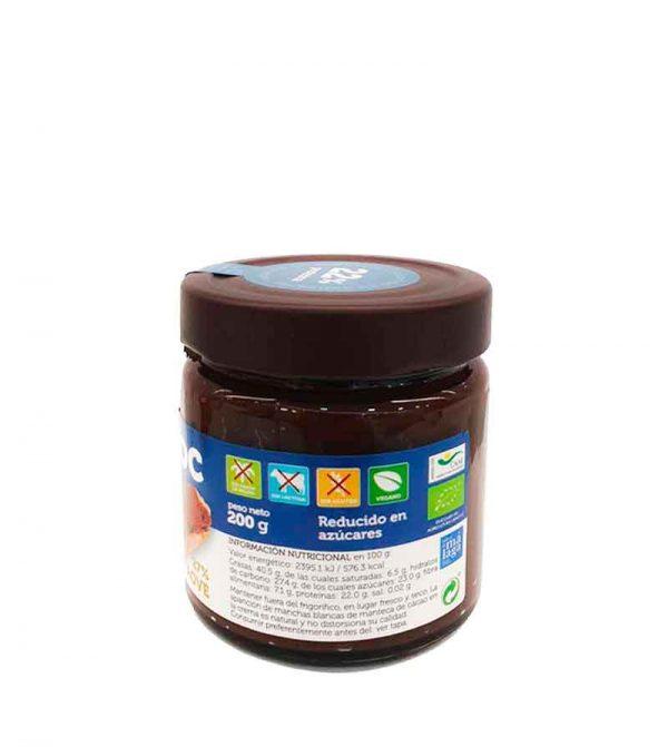 crema de cacao con avellanas y proteina biochoc
