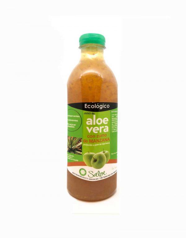 jugo de aloe vera con manzana ecologico
