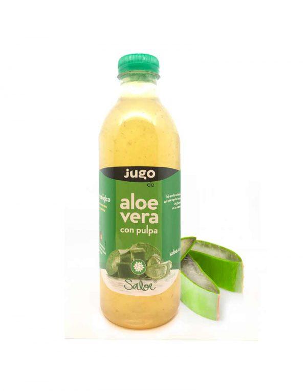 jugo de aloe vera con pulpa ecologico