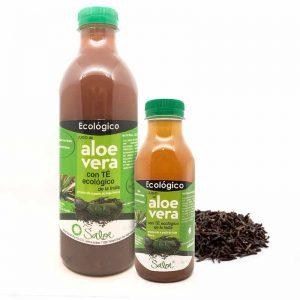 jugo de aloe vera con té ecologico