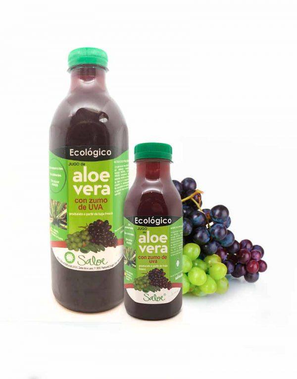 jugo de aloe vera con uva ecologico