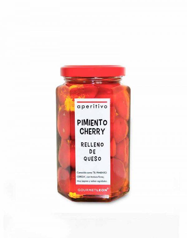 pimientos cherry rellenos de queso gourmet