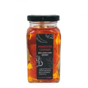pimientos cherry rellenos de queso gourmet leon de queso