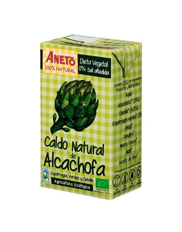 Caldo alcachofas aneto ecológico