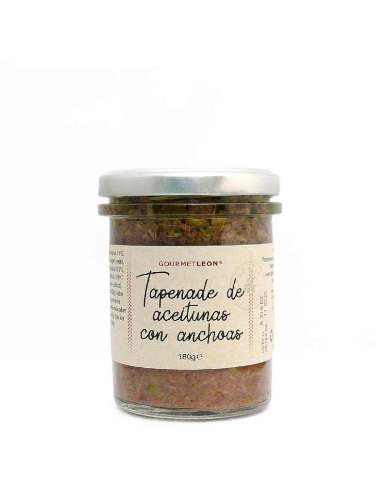 Paté De Aceitunas Negras Con Anchoas 180gr Comprar Online